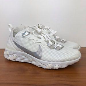 "Nike Women's React Element 55 ""White Iridescent"""